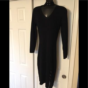 NWT Black Ribbed Fitted Sweater Dress - Size 2x